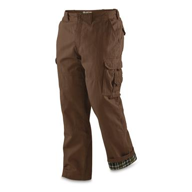 Guide Gear Men's Flannel Lined Cargo Pants, Brown