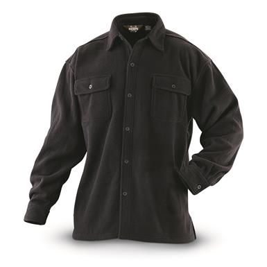 Guide Gear Men's Fleece CPO Shirt, Black