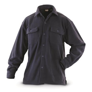 Guide Gear Men's Fleece CPO Shirt, Navy