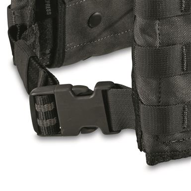 Adjustable quick-release buckles make getting it on and off fast and easy, Black