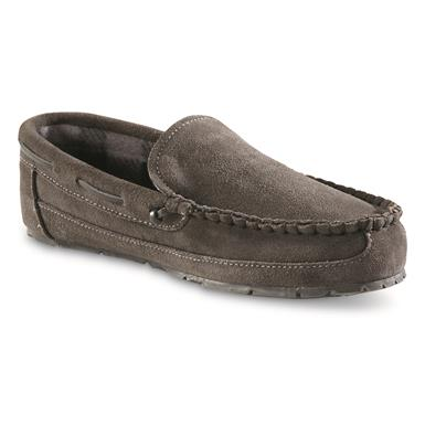 Guide Gear Suede Moc Slippers, Gray