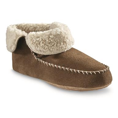 Guide Gear Women's Sherpa Lined Bootie Slippers, Nutmeg