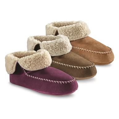 Guide Gear Women's Sherpa Lined Bootie Slippers