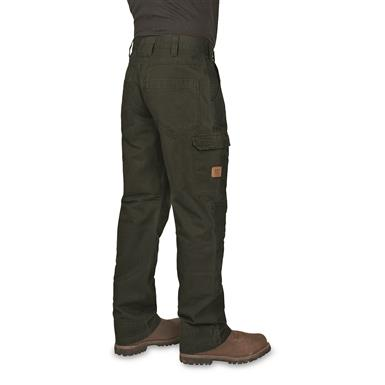 Walls Men's Vintage Cargo Work Pants, Washed Forest Shadow