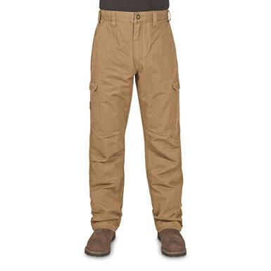 Walls Men's Vintage Cargo Work Pants, Washed Pecan