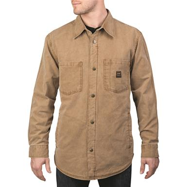 Walls Men's Bandera Lined Duck Shirt Jacket, Washed Pecan