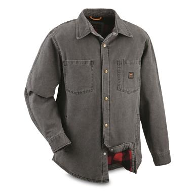 Walls Men's Bandera Lined Duck Shirt Jacket, Washed Graphite