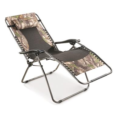 Guide Gear Camo Oversized Zero Gravity Lounger, 500-lb. Capacity