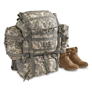 U.S. Military Surplus MOLLE Field Pack Complete with Frame, New