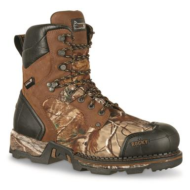 Rocky Men's Hunt Maxx Insulated Waterproof Hunting Boot, 800 Grams, Realtree Xtra Camo, Brown/Realtree Xtra®