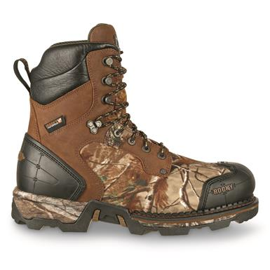 Full-grain leather / 900-denier nylon uppers, Brown/Realtree Xtra®