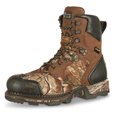 Rugged full-grain leather and 900-denier nylon uppers in Realtree Xtra Camo, Brown/Realtree Xtra®