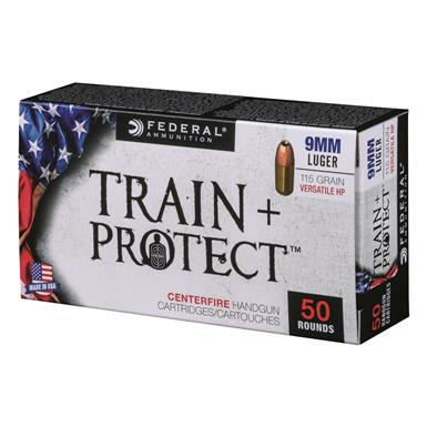 Federal Train + Protect, 9mm Luger, VHP, 115 Grain, 100 Rounds