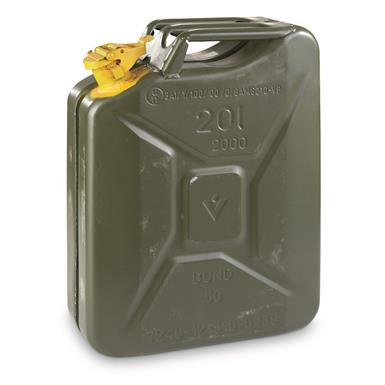 German Military Surplus Jerry Can, 20 Liters (5 Gallons) Like New