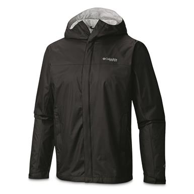 Columbia Men's PFG Storm Waterproof Jacket, Black/Cool Gray