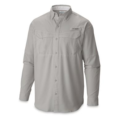Columbia Men's Low Drag Offshore Long Sleeve Shirt, Cool Gray