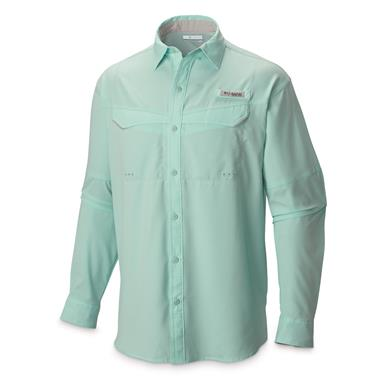 Columbia Men's Low Drag Offshore Long Sleeve Shirt, Gulf Stream