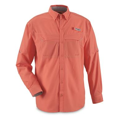 Columbia Men's Low Drag Offshore Long Sleeve Shirt, Salmon