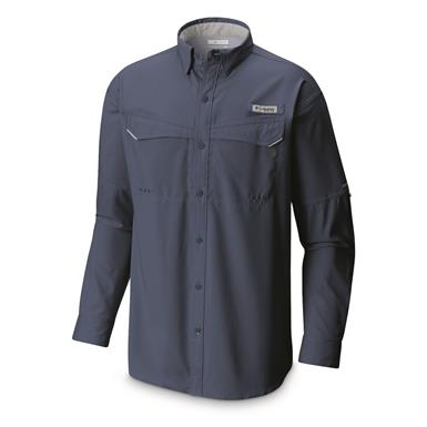 Columbia Men's Low Drag Offshore Long Sleeve Shirt, Night Tide