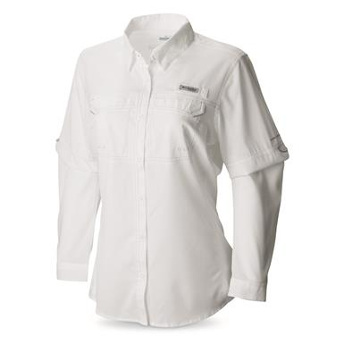 Columbia Women's PFG Lo Drag Long Sleeve Shirt, White