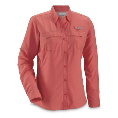 Columbia Women's PFG Lo Drag Long Sleeve Shirt, Lollipop