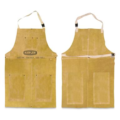 MAN LAW Leather Grilling Apron