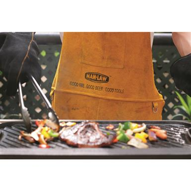 Genuine leather for seriously safe grilling