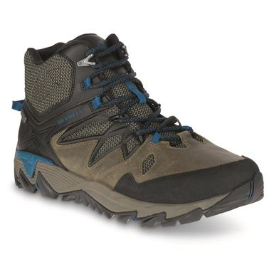 Merrell Men's All Out Blaze 2 Waterproof Mid Hiking Boots, Stucco