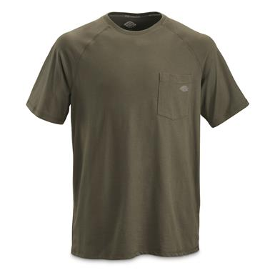 Dickies Men's Temp-iQ Performance Cooling T Shirt, Moss Green