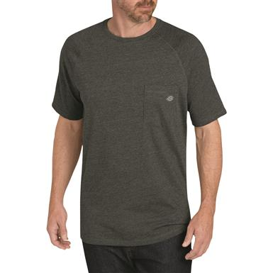 Dickies Men's Temp-iQ Performance Cooling T Shirt, Black Heather