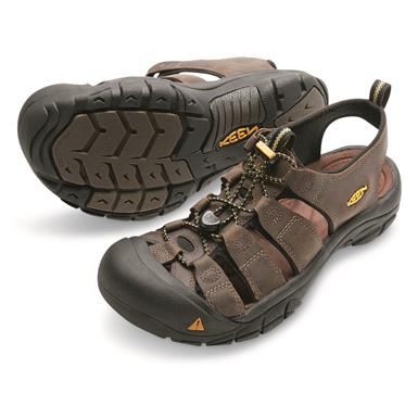 KEEN Men's Newport Leather Sandals, Bison