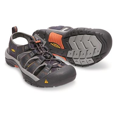 KEEN Men's Newport H2 Sandals, India Ink/Rust