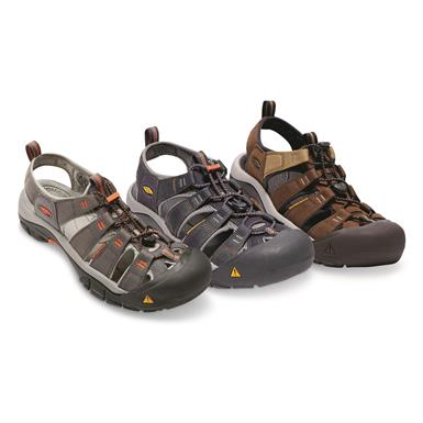 KEEN Men's Newport H2 Sandals, Magnet/Nasturtium, India Ink/Rust & Mulch/Dark Earth