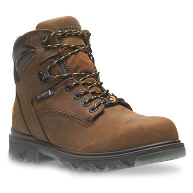 Wolverine Men's I-90 EPX Waterproof Safety Toe Work Boots, Brown