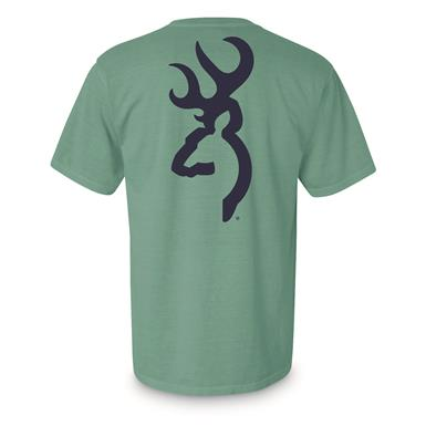 Browning Men's Solid Buckmark Tee Shirt, Mint