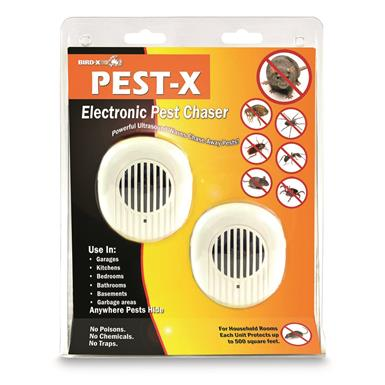 Bird-X Pest-X Ultrasonic Repellent, 2 Pack