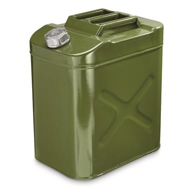 U.S. Military Style Steel Jerry Can, 30 Liter, Reproduction