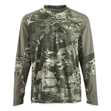 Under Armour Men's CoolSwitch Hybrid Crew Shirt, UA Green Hydro Camo