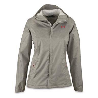 Under Armour Women's Overlook Waterproof Jacket, True Gray Heather