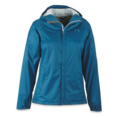 Under Armour Women's Overlook Waterproof Jacket, Cruise Blue