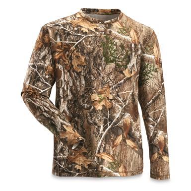 Guide Gear Men's 3T Camo Hunting Shirt, Long-Sleeve, Realtree EDGE™