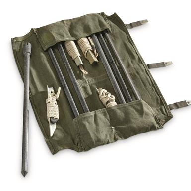 East German Military Surplus Carry Bag with Stakes, New