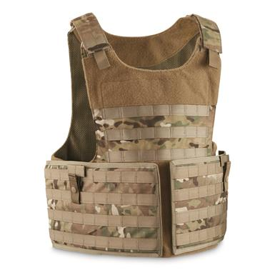 Peruvian Military Surplus MOLLE Plate Carrier Vest, New, Multicam