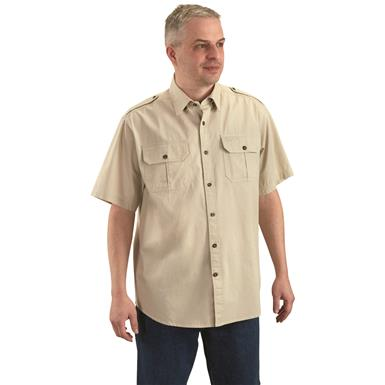2 pleated button-flap chest pockets for extra storage space, Khaki