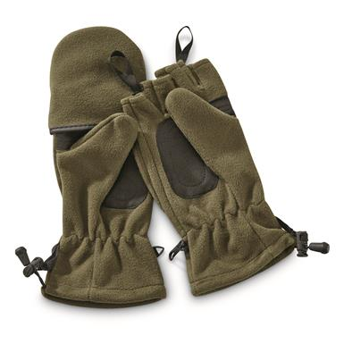 Mil-Tec Fleece Sniper Gloves, Olive Drab