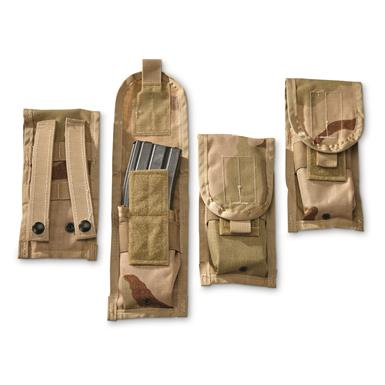 U.S. Military Surplus M4 Mag Pouches, 4 Pack, Like New