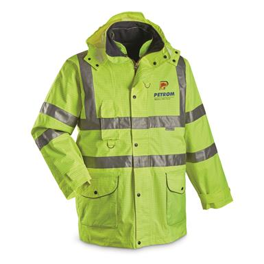 Romanian Municipal Surplus Waterproof Contractor's Jacket, New, Hi-Vis Yellow