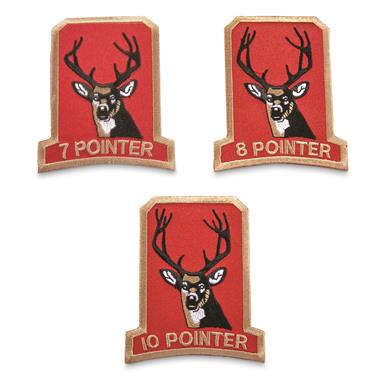 Classic Deer Hunting Patches, 3 pack, 7-10 Pointers