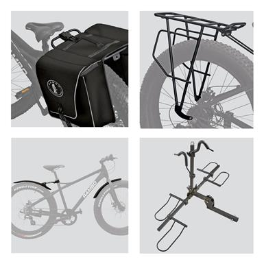 Rambo Bike Accessory Bundle and Guide Gear Fat Tire Bike Carrier