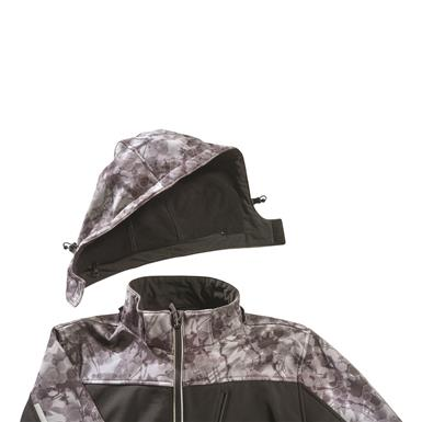 Removable, microfleece-lined hood, Black/olive